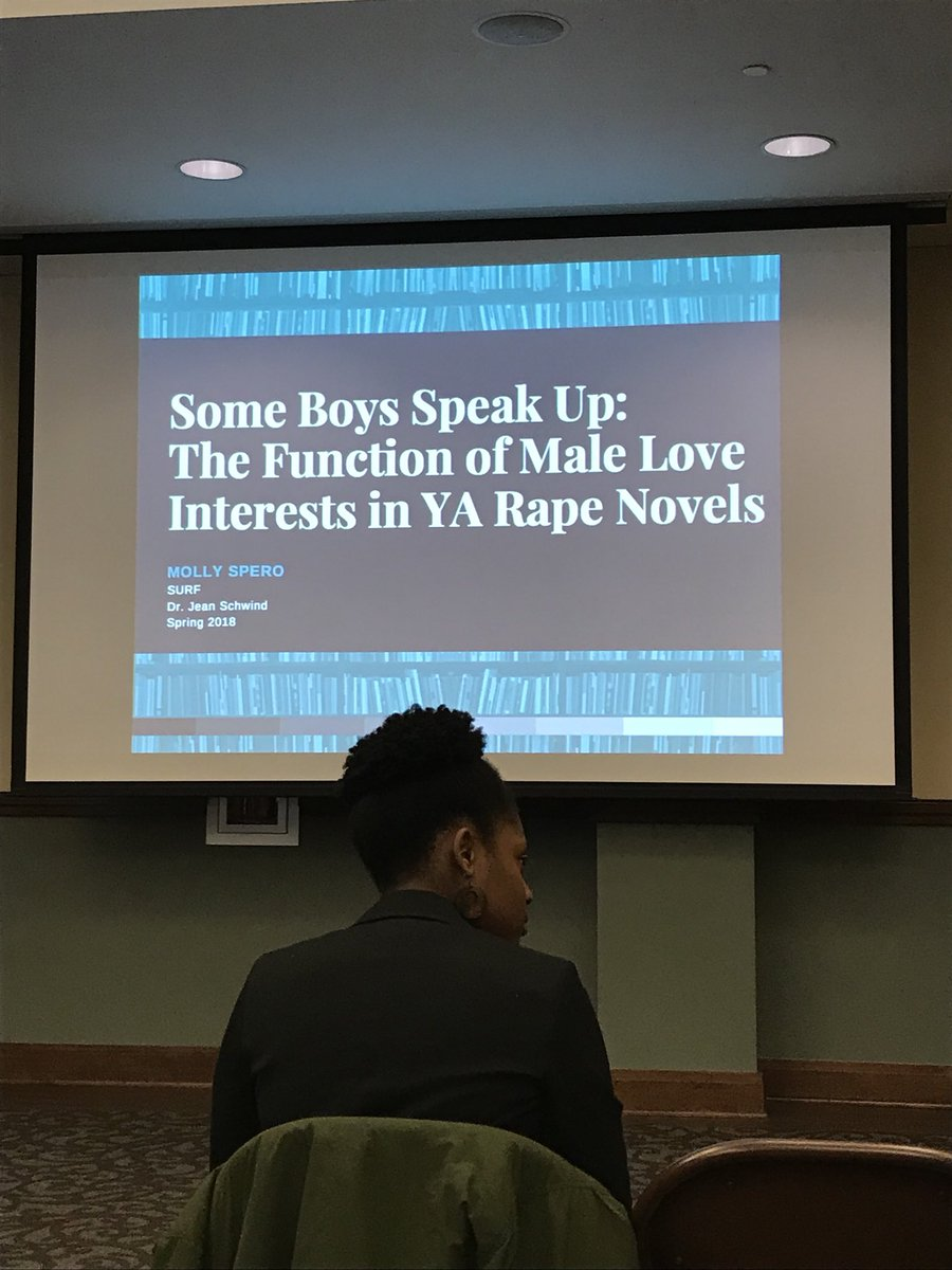 I saw this presentation about hegemonic masculinity in young adult novels #CCiFeminism #SURF2018<br>http://pic.twitter.com/tAa0CvMviN
