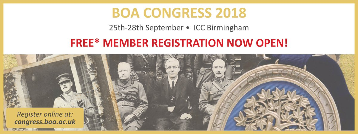 FREE* BOA member registration is now open! Register online before Friday 1st June  http:// ow.ly/UZQd30jEjgy  &nbsp;   #BOAAC #BOAcentenaryyear #trauma #orthopaedic #surgeons #trainees #medicalstudents<br>http://pic.twitter.com/Dvs0KLF1Pd