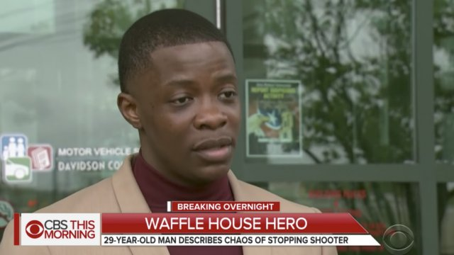 Thousands raised for Waffle House hero after he raises thousands for victims' families: https://t.co/zAGIAA2fRv https://t.co/MtIuBQiGzq