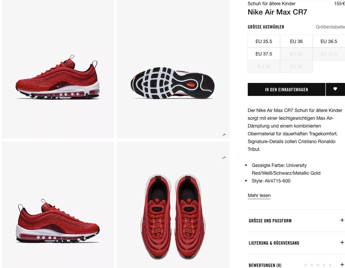 premium selection 8fee3 c3853 Few sizes still available GS Nike Air Max 97 CR7 Portugal Patchwork via  Nike EU UKhttptinyurl.comy6uz2ech FRhttptinyurl.comybft85dz ...