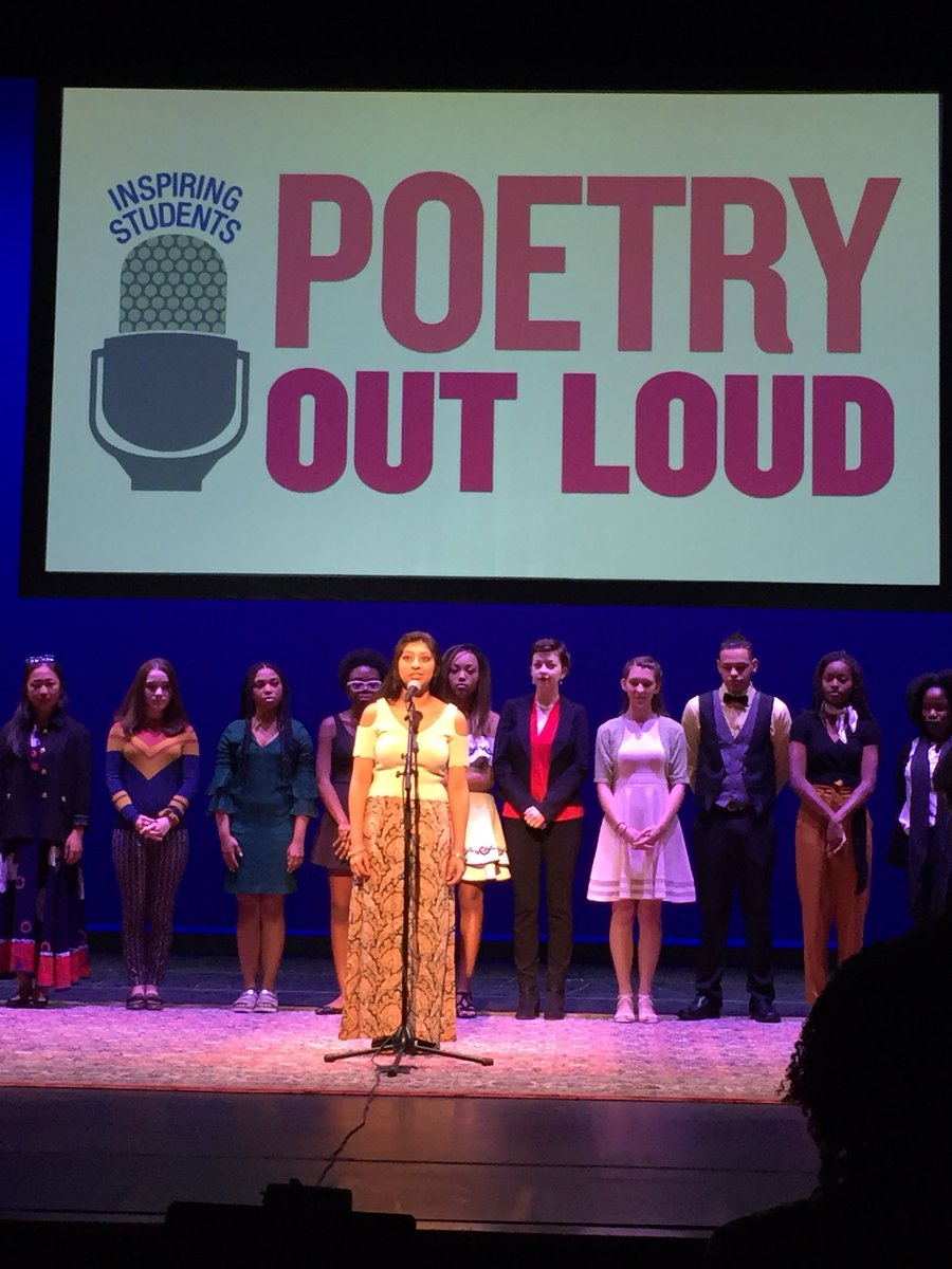 Mic check! Jasmine prepares to represent FHS and all of #Connecticut in the National Finals of the #PoetryOutLoud competition. #POL18 <br>http://pic.twitter.com/FF0vGwmr8T &ndash; à The George Washington University