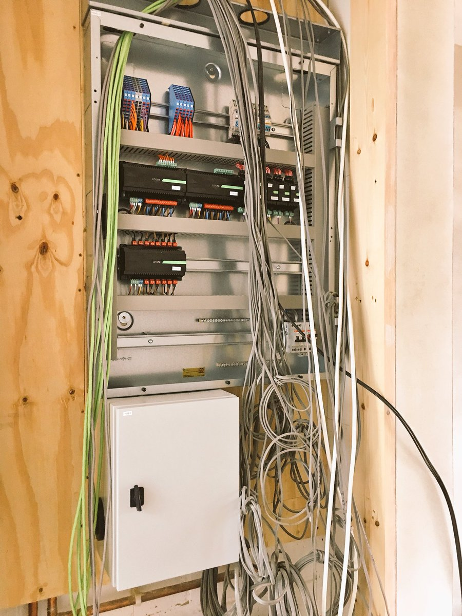 Halo Haus On Twitter This Is Another Loxoneuk Smarthome In Wiring Lights Oxfordshire With Multiple Pre Built Panels That Are All Ready For