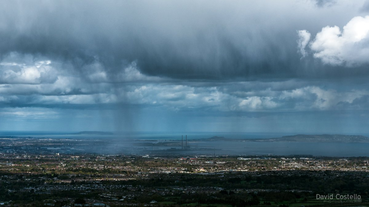 A typical Spring day in Dublin: Dundrum and Clonskeagh bask in the sunshine while Sandymount and Ringsend have to roll out the ark  #Dublin #Spring #Rain #Sunshine #HellfireClub #DublinCity<br>http://pic.twitter.com/q1aoR0gGjx