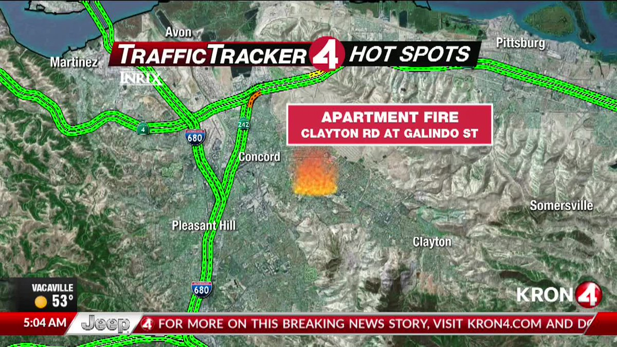 Kron 4 Fire Map.Kron4 News On Twitter Concord Fire Several Major Roads Remain