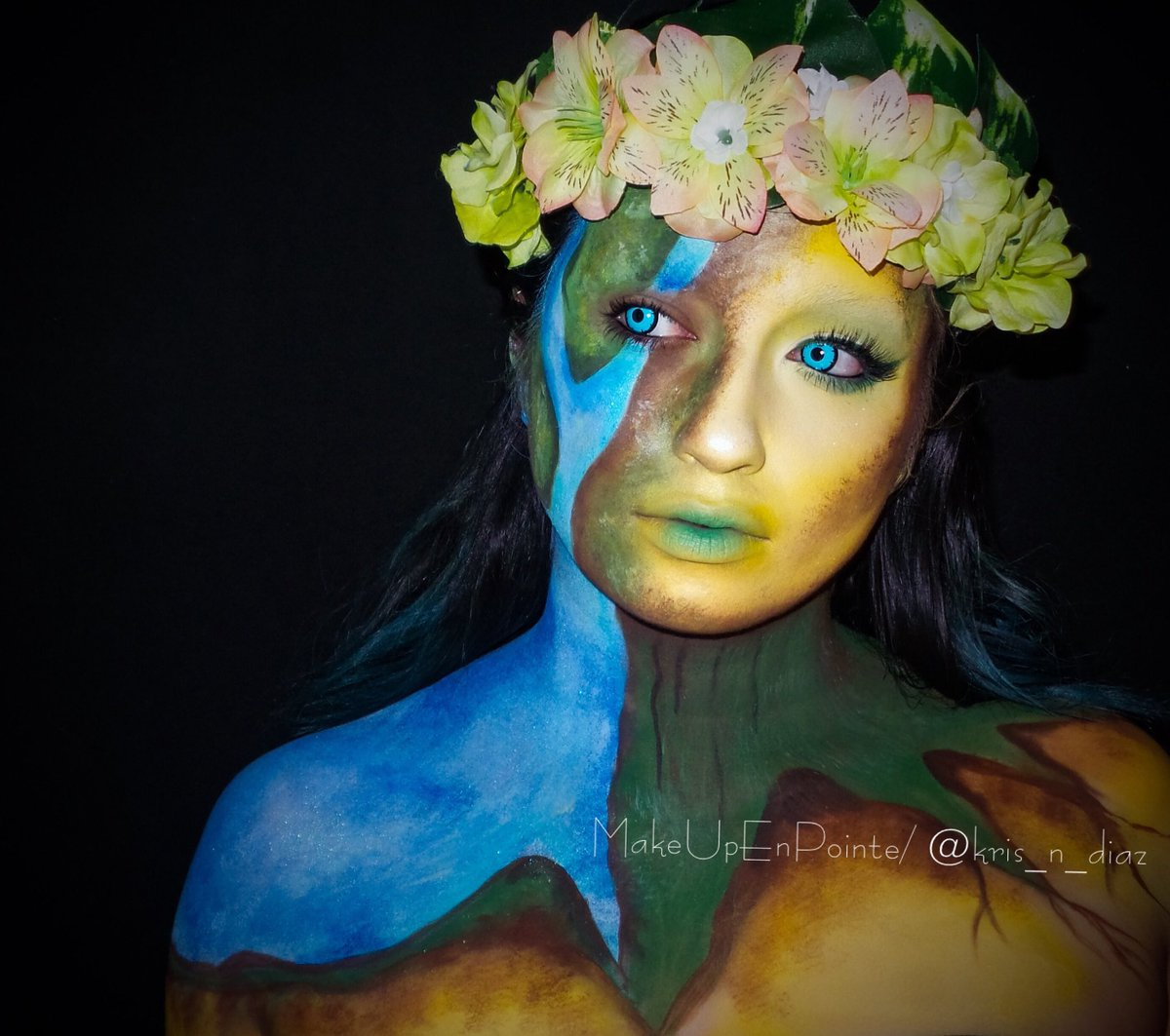 Created This Dess Of Earth Makeup