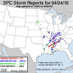 Image for the Tweet beginning: #OTD 4/24/2010 12 tornadoes raked