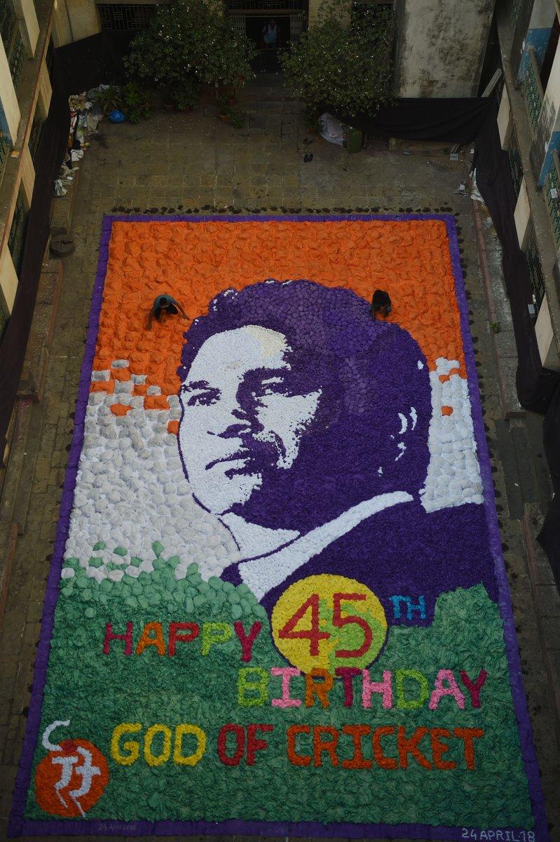 Happy 45th @sachin_rt! 🎂  #ShotOfTheDay #Sachin45 #HappyBirthdaySachin