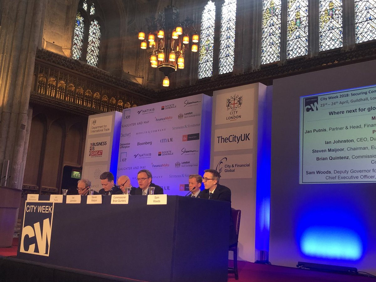 @ESMAComms Chair Maijoor reflecting on global rules for #FinancialServices in London #CityWeek2018<br>http://pic.twitter.com/E6FHMjc3uP