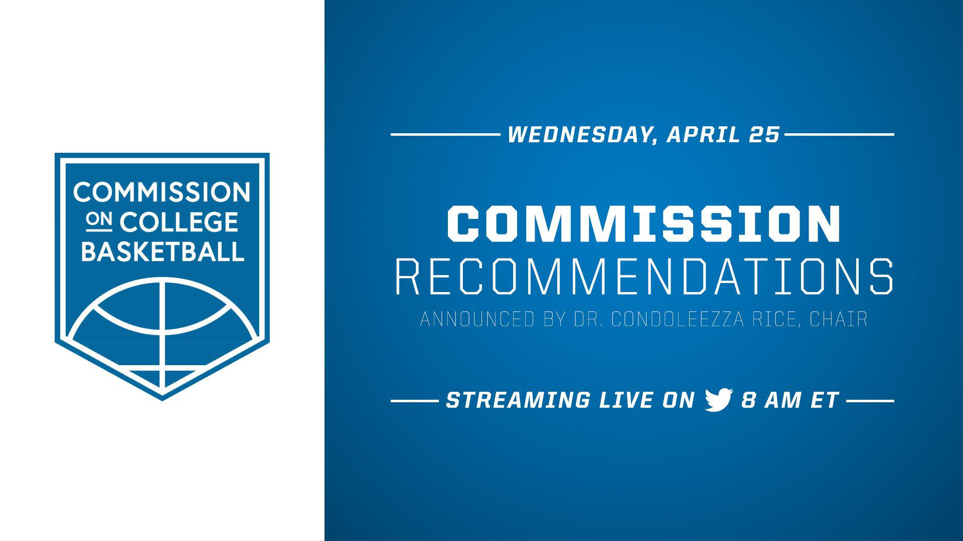 """NCAA on Twitter: """"The Commission on College Basketball ..."""