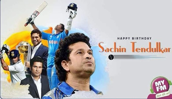 Happy Birthday to the master blaster Sachin Tendulkar