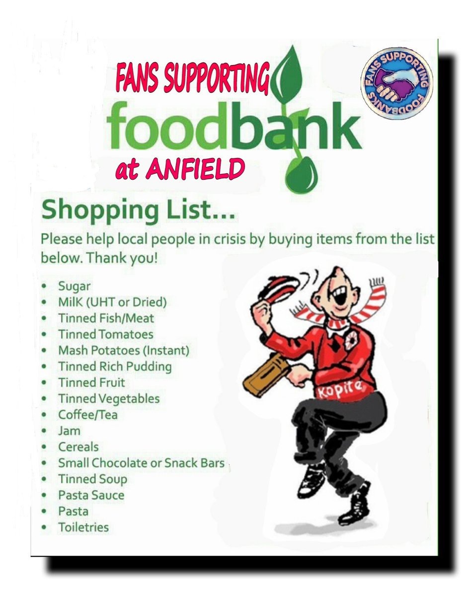 Fans Supporting Foodbanks On Twitter Off To The Match
