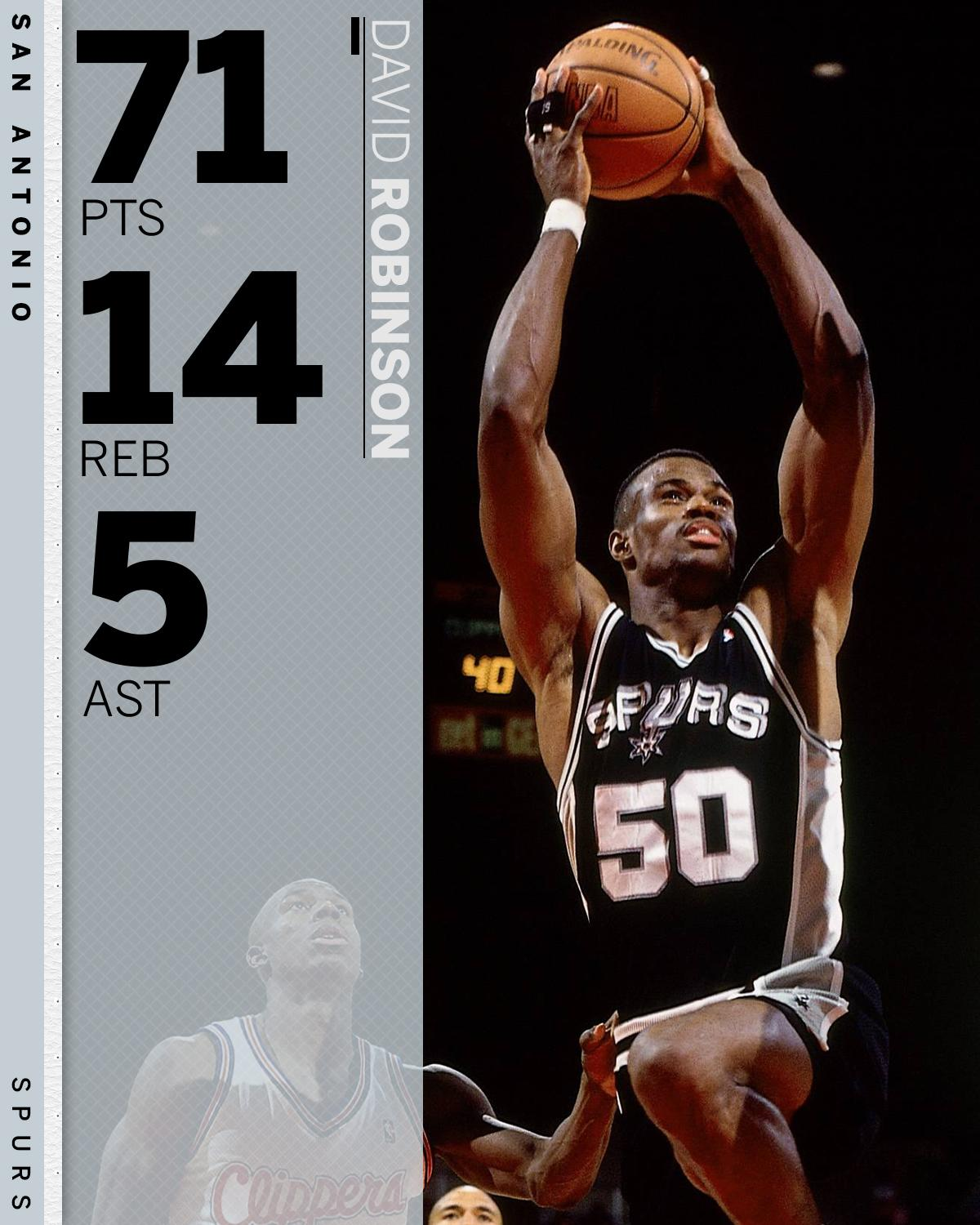 On This Date: David Robinson dropped 71 points on the Clippers in the last game of the 1994 regular season. https://t.co/Hvb6yKOqrT