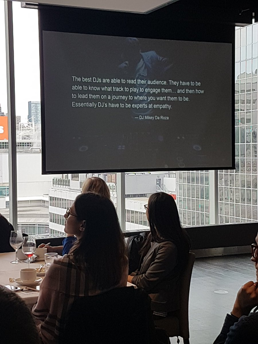&quot;Like DJs, #marketers have to be able to read their audiences&quot; says Daniel Sendecki from @Uberflip, speaking at #CMApipecon. @CdnMarketing #CMAevents<br>http://pic.twitter.com/vTBJQPZ0lC