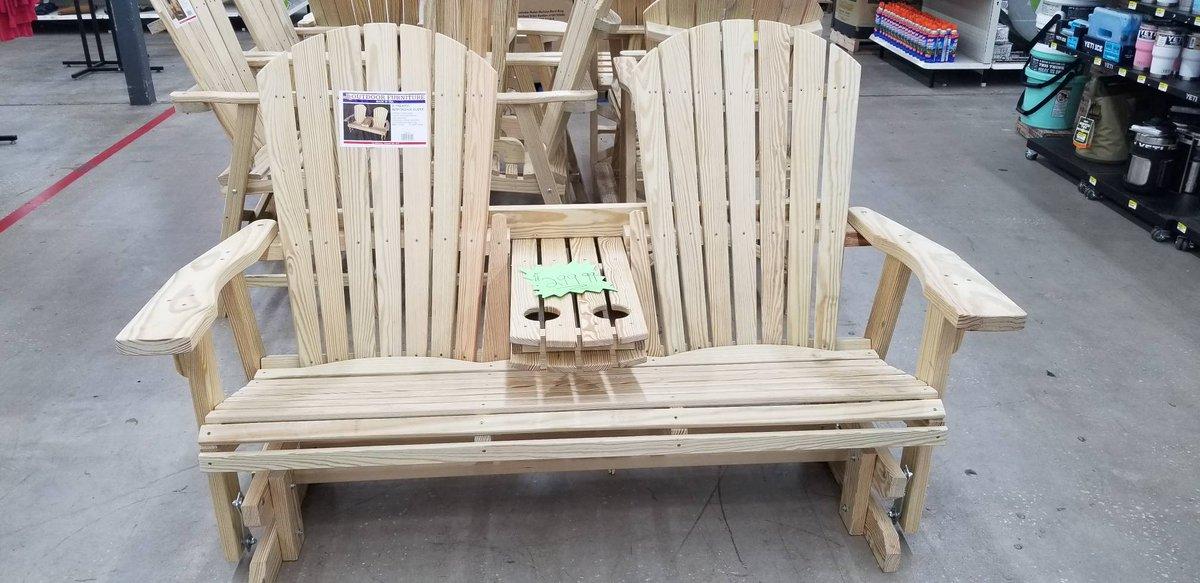 Superb Rural King No Twitter Wooden Glider 299 99 Ibusinesslaw Wood Chair Design Ideas Ibusinesslaworg