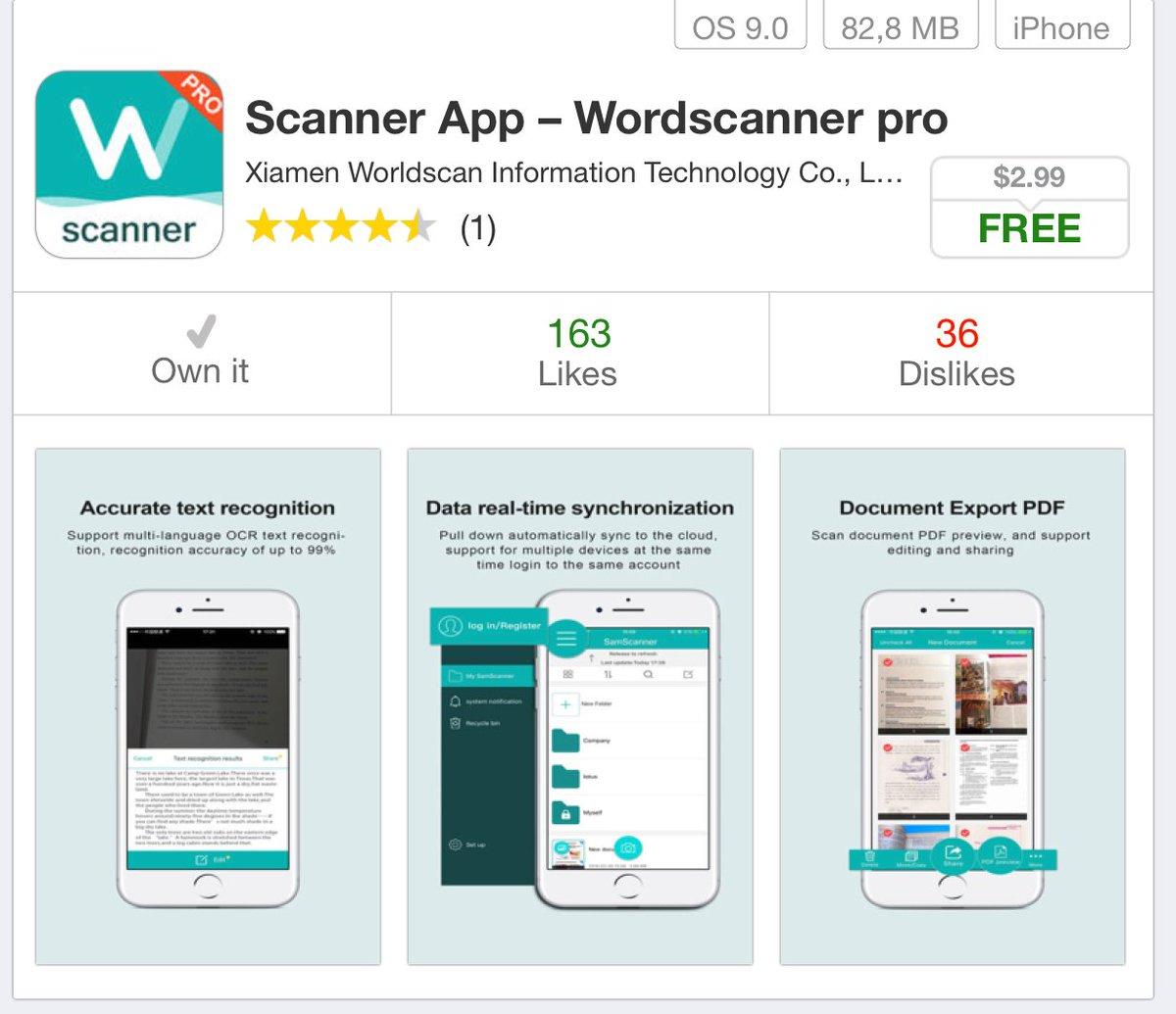تحميل تطبيق pdf scanner المدفوع مجانا للايفون