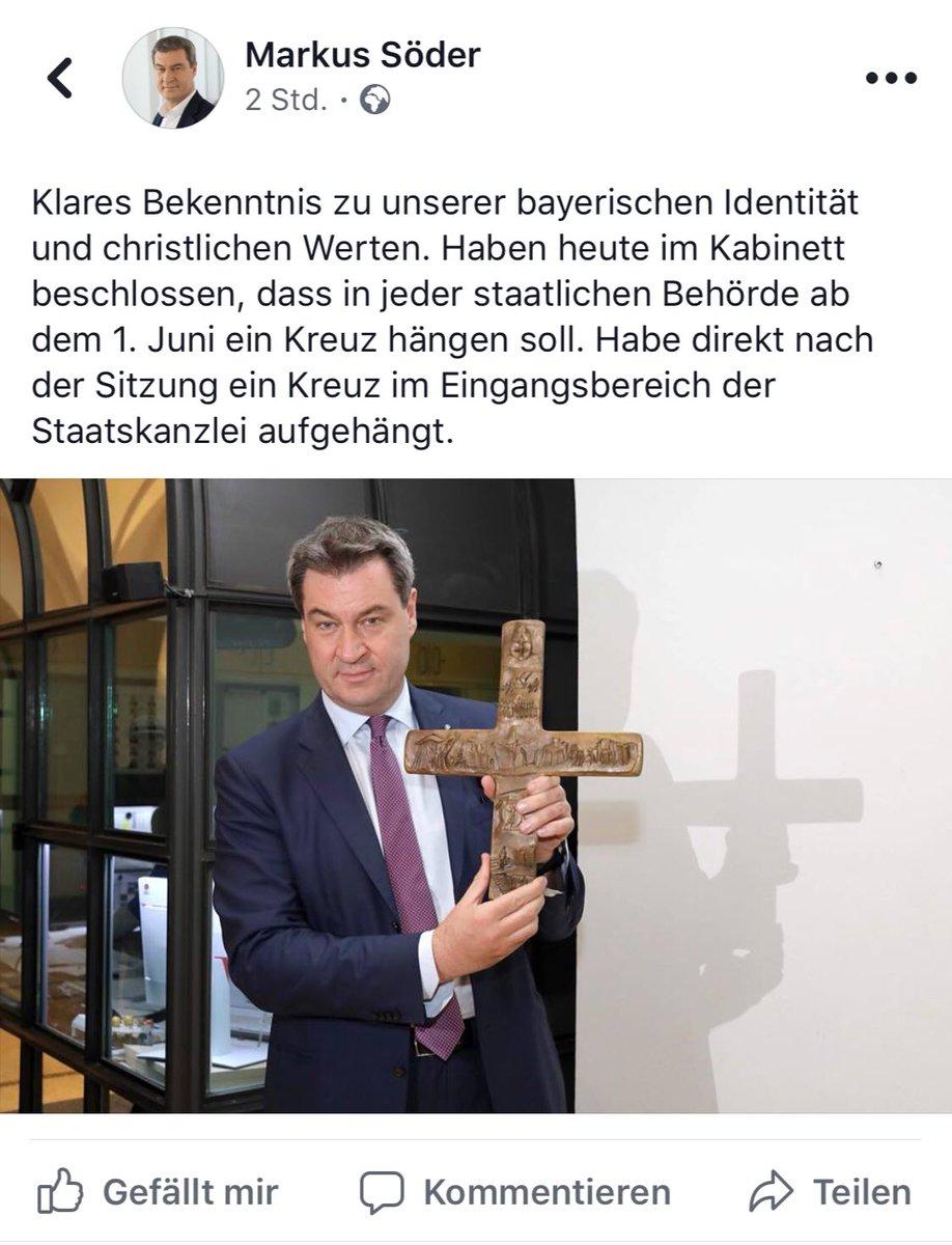 Bildergebnis für Ein Kreuz für jede staatliche Behörde in Bayern