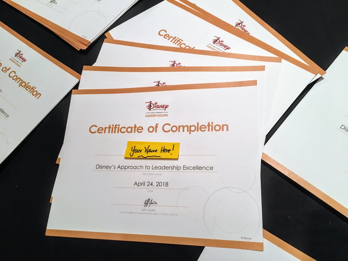 Today&#39;s #ACCExcellenceSummit guests are taking one of these beauties home today, and YOU can get YOUR Disney Certificate of Leadership Excellence Completion at our summit in Calgary in March 2009! Details &amp; Tickets:  https:// bit.ly/2K5rEYE  &nbsp;   #JoinUs #yycevents <br>http://pic.twitter.com/DWCgjyUi7b