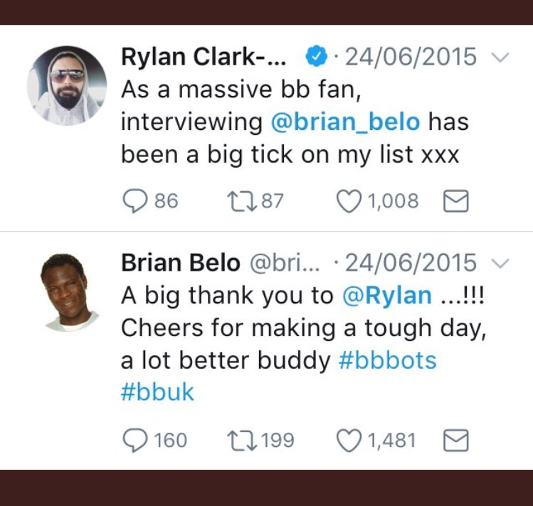 Regarding the Brian story I gotta say it's quite unusual. Always been a massive supporter of Brian and I thought him of me? As below. Not sure what's changed in a couple of years but sincerely hope he is well. Can't @ him as he's blocked me? BUT I do need to say another thing 1/2