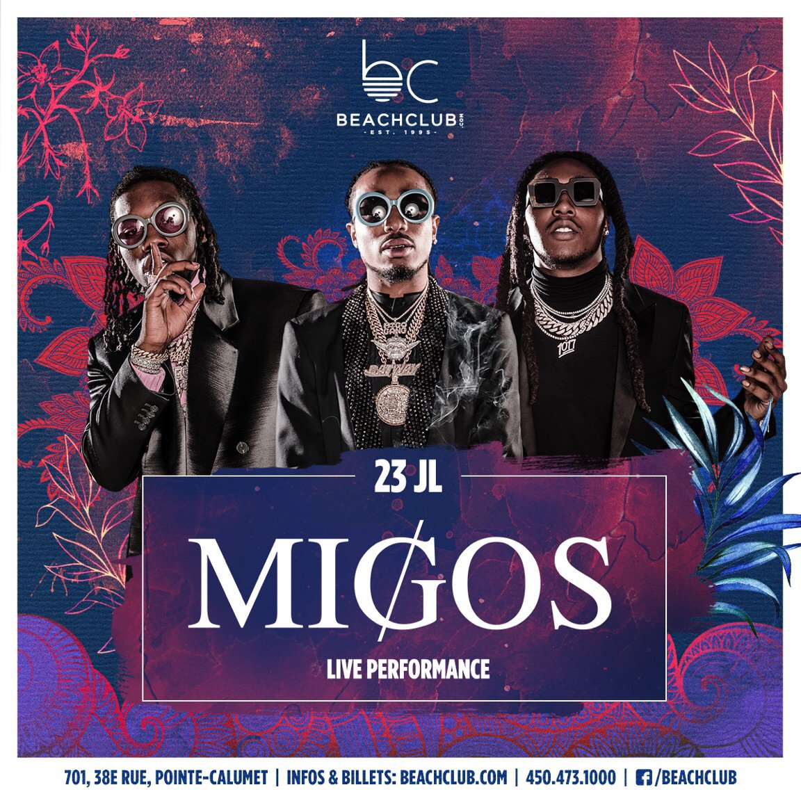 @Migos tickets are selling fast. Get yours now at beachclub.com/tickets