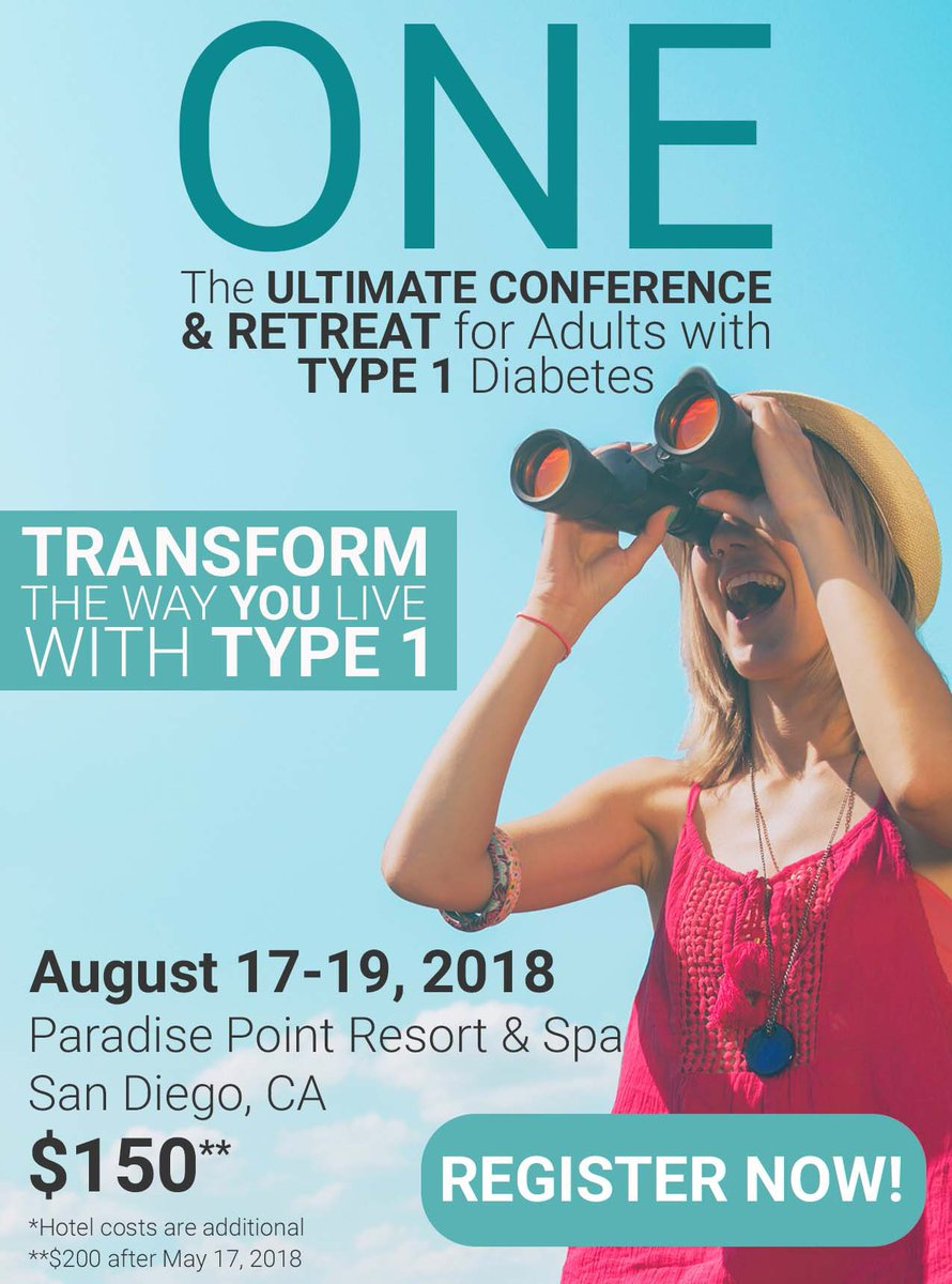 Join me at @TCOYD for a weekend that will TRANSFORM the way you live w/ #Type1Diabetes! I'm speaking on Sunday, but will be there all weekend. #TCOYD ONE: The Ultimate Conference &amp; Retreat for Adults w/ #Type1: August 17–19, San Diego, CA. Register TODAY:  https:// tcoyd.org/one/  &nbsp;  <br>http://pic.twitter.com/WtVOi5PSA2