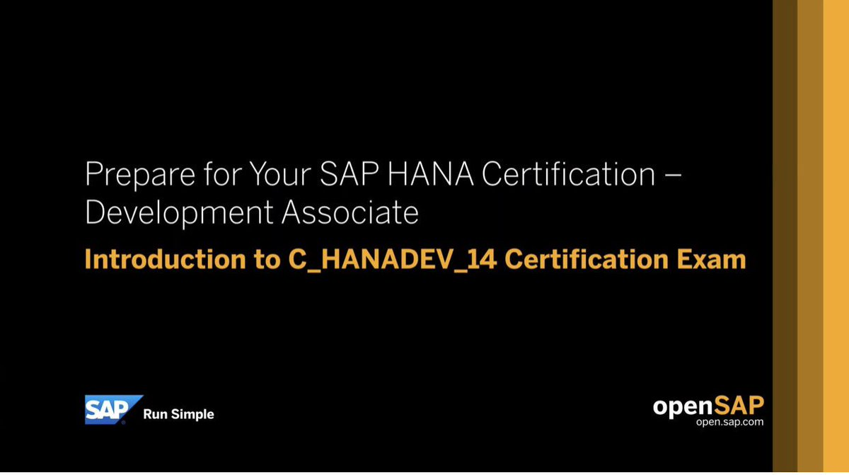 3 Twitter Sap Hana Certification Twitter Hana Certificate