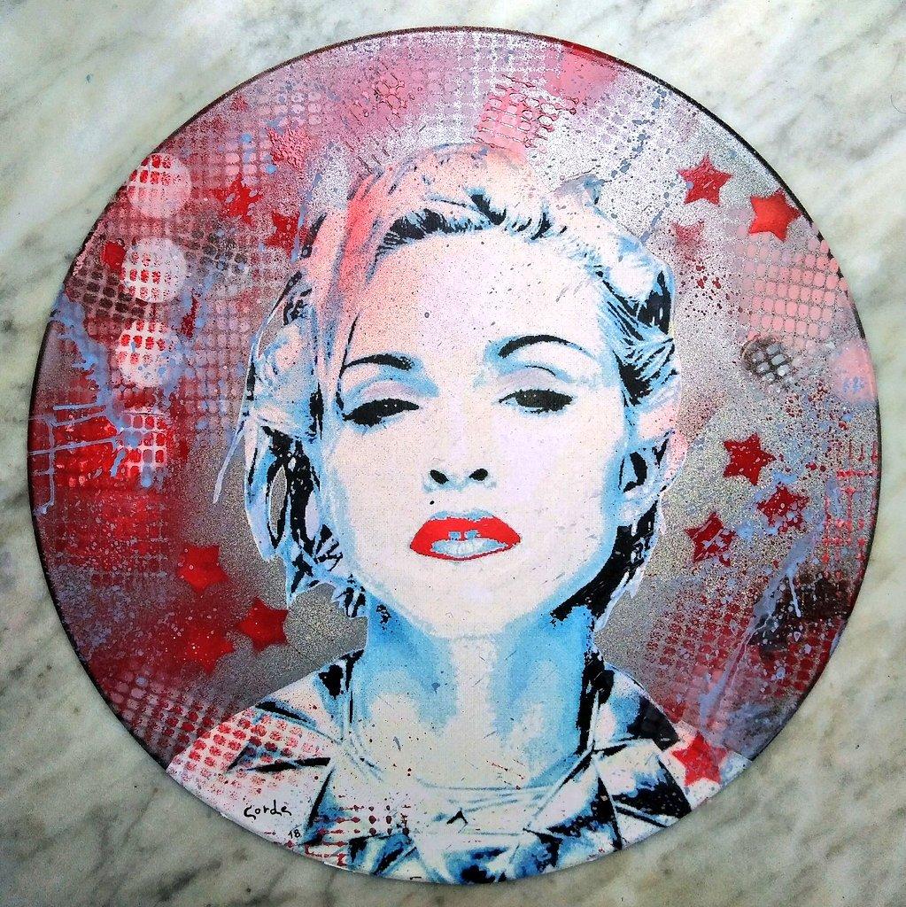 Shake the Icon #Madonna by #CORDEart #collage and #spraycans on #vinyl #digitalart  #streetart #graffiti  #vinile #music #popart  #rebelheart #love #art #arte #popmusic #vinylrecords #ICONIC  #ArtForFreedom  #strikeapose @madonna  #revolutionoflove #fashion  #illustration #dj<br>http://pic.twitter.com/NwdE1cajPf