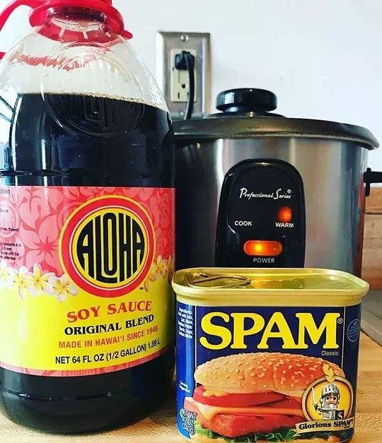 You know what's going down..... SPAM MUSUBI time! Made with @spambrand, rice, nori and #AlohaShoyu!  #hawaii #onokinegrindz #soysauce #shoyu #brokedamouth #madewithaloha #foodstagram #supportlocal #eatlocal #goodeats #hawaiianfood #foodporn #musubi #spam #nori #localfavorite