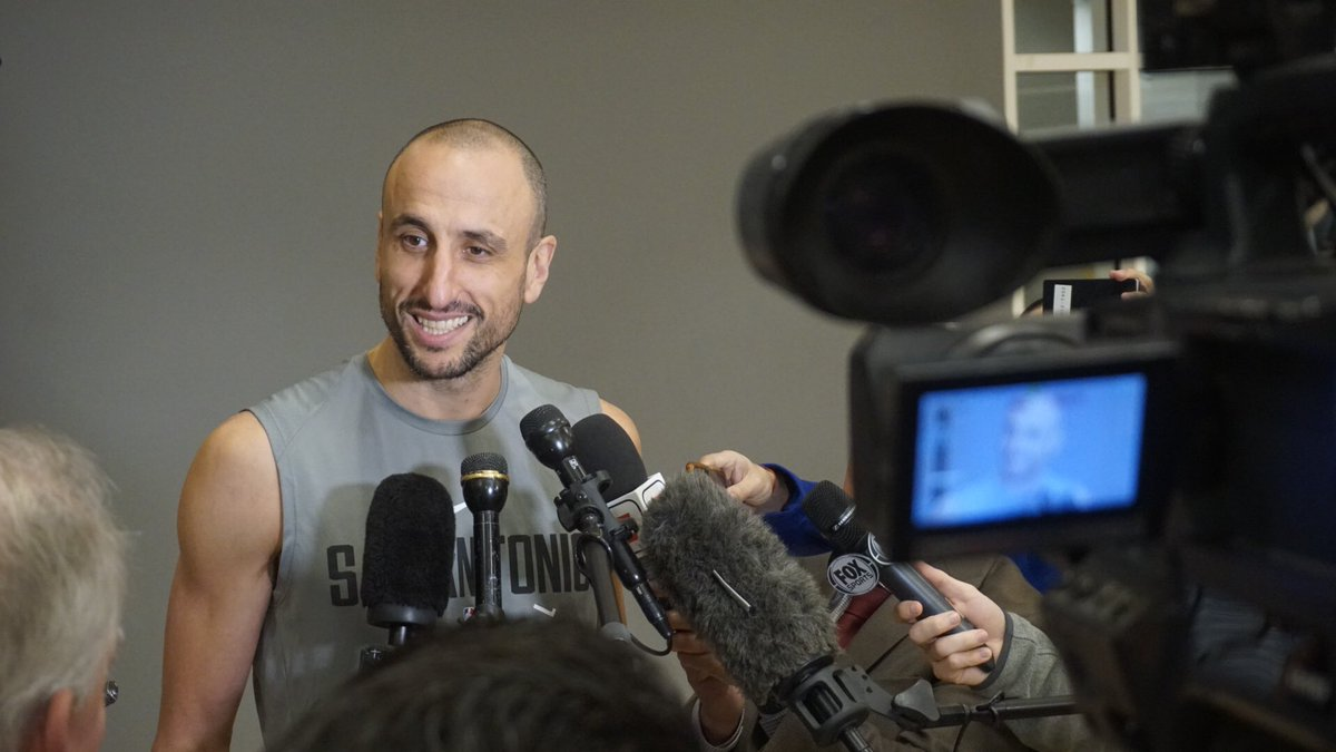 Answering those post shootaround questions, full interviews soon at https://t.co/ykmkEHfwQE  #GoSpursGo