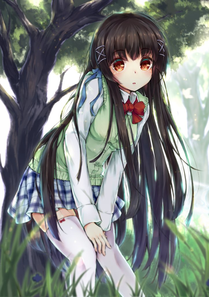 [Moe bot][#6706] Flowing long black hair [#original] <br>http://pic.twitter.com/JUT1GG5ufl