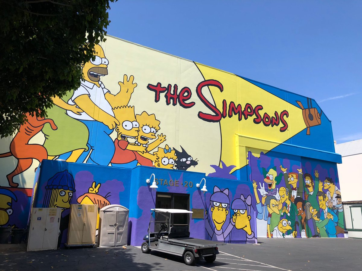 Visiting the ancient murals of Hollywood today.