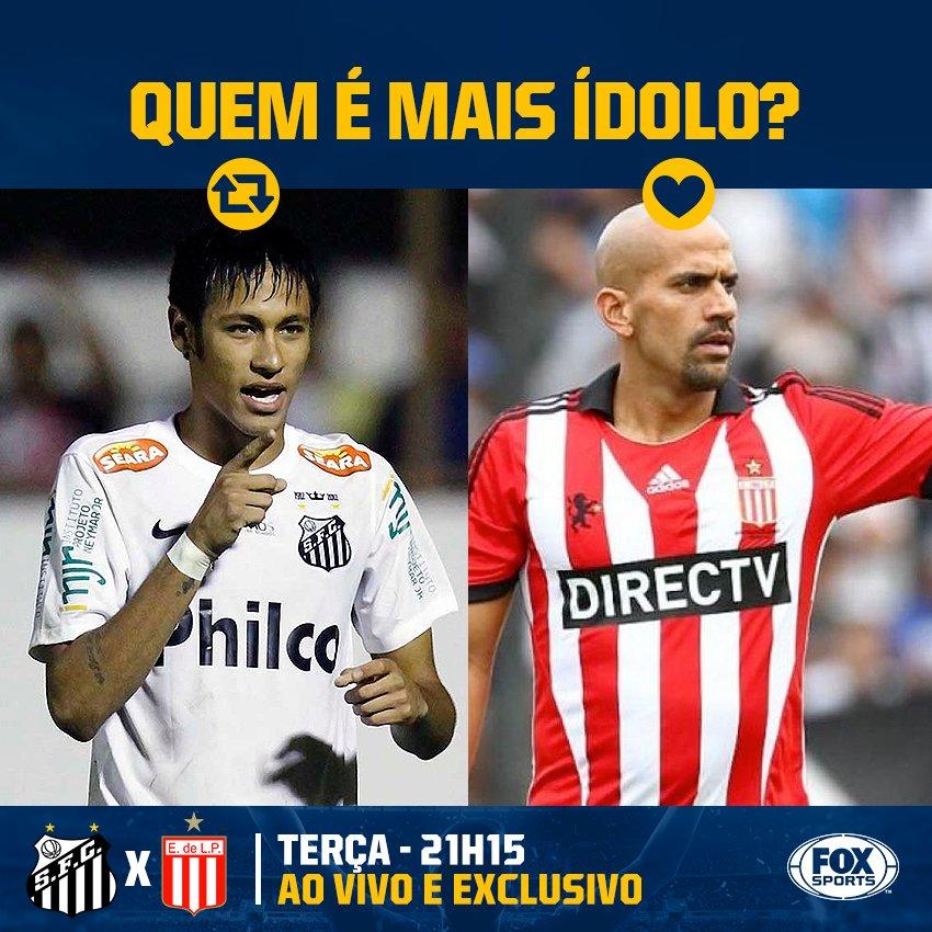 Quem é mais ídolo?#LibertadoresFOXSports  🔁 Verón no Estudiantes ❤ Neymar no @SantosFC