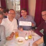 """Das spontan kombinierte @bdew u @EnBW -Team beim #klimaquiz des @WWF_Deutschland - Die Köpfe rauchen - Name des Teams: """"Vom Winde erzeugt"""" - Dank an den WWF für die tolle Orga! #energiewende"""