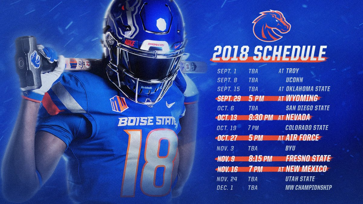 Boise State Football On Twitter Schedule Update The Dates For