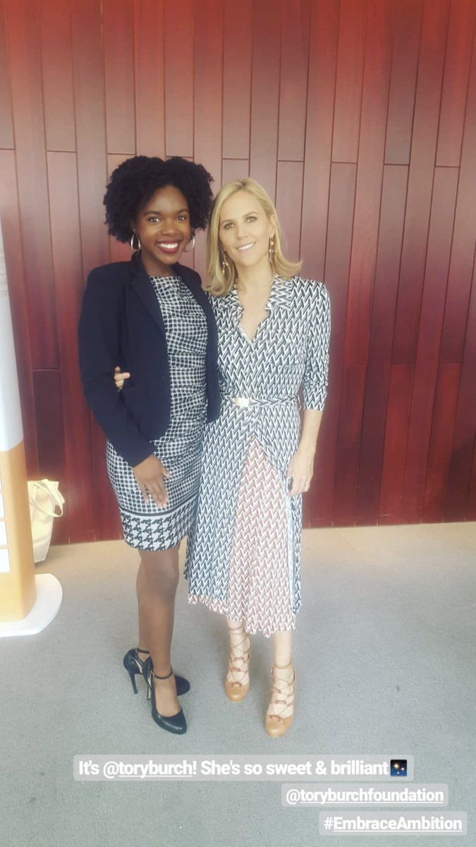 Wow! Dream moment. Our #ILookLikeAPolitician ambassador @cierradjackson_ met @toryburch at today's #EmbraceAmbition summit. Thank you @ToryBurchFdn &amp; @politico #WomenRule! <br>http://pic.twitter.com/bBgR1073Vz