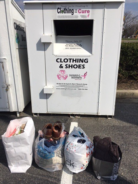 Drop off your unwanted clothes or shoes at any local Clothing for Cure container to support Komen Maryland. For information on box locations, ...