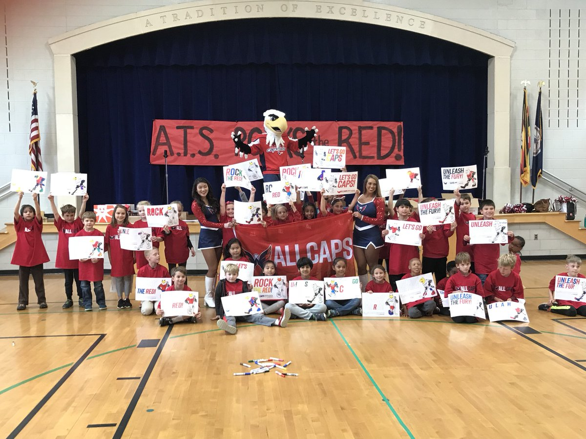 Rock the Red!!! 2nd grade had a great visit from the <a target='_blank' href='http://twitter.com/Capitals'>@Capitals</a> <a target='_blank' href='http://twitter.com/APSHPEAthletics'>@APSHPEAthletics</a> <a target='_blank' href='http://twitter.com/APSVirginia'>@APSVirginia</a> GO CAPS!!!!!!! <a target='_blank' href='https://t.co/ueiopn4N8q'>https://t.co/ueiopn4N8q</a>