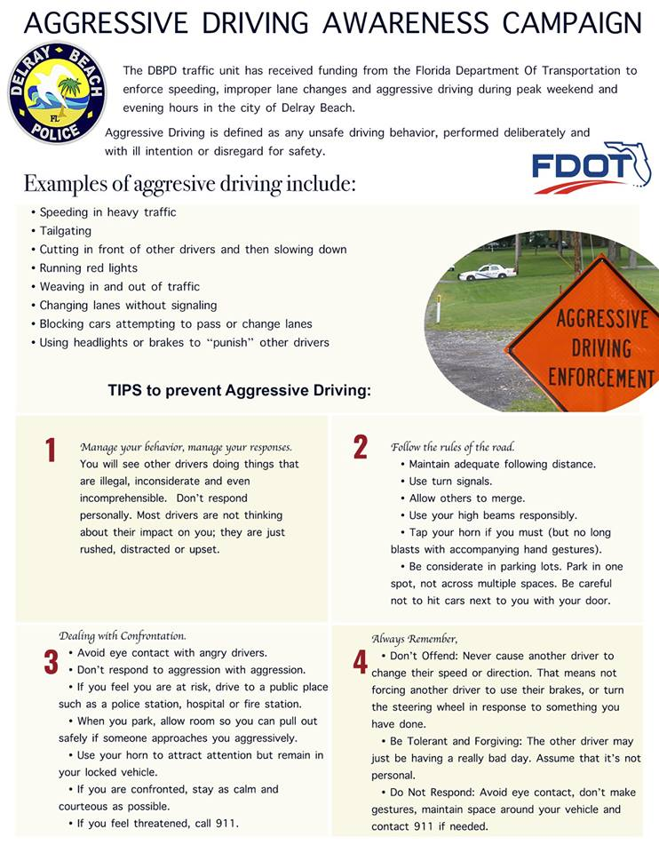 """delray beach police on twitter: """"are you an aggressive driver? check"""