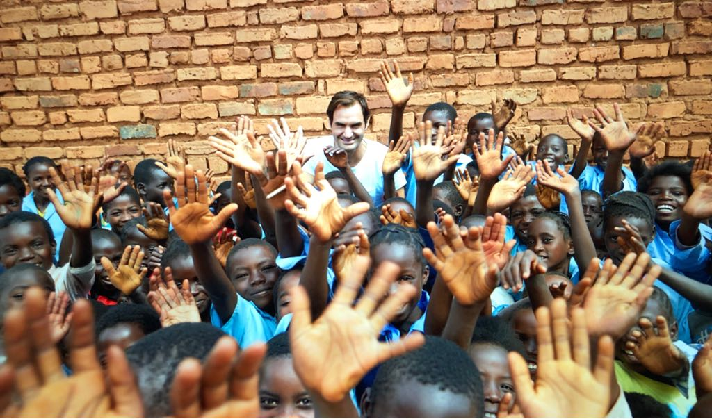 @rogerfedererfdn visit in Zambia ����  #educationempowers  �� https://t.co/plV0O9pgA9