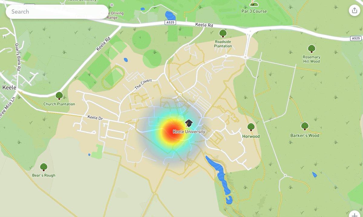 Map Of England Keele.Keele University On Twitter That Snapchat Map Hotspot Over Keele