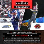 Exclusive autograph session with @KyleLarsonRacin on May 12 @kansasspeedway! Show both your tix to the Kansas #NASCAR Cup Race on May 12 and to the 2018 Knoxville Nationals Knoxville Raceway display at Kansas Speedway before 3pm on Saturday, May 12 to get your wristband!