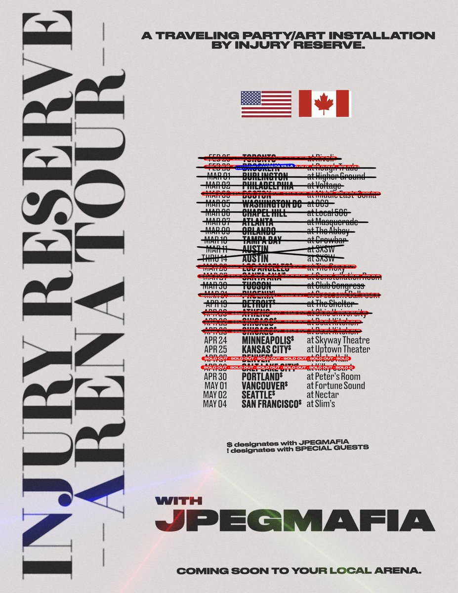 Injury Reserve On Twitter 8 Dates Left On The Arena Tour With