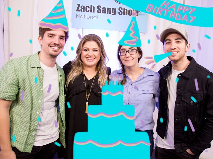 ZachSangShow : Happy Birthday to JustHeather103\s BFF, kelly_clarkson!!