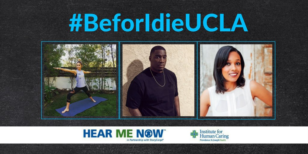 Just 1 more day away! Help spread awareness on advance care planning and the power of storytelling by joining us for one or all these #BeforeIdieUCLA events start 4/25-4/27 w/@ChauntalLewis, @dcsofly90 and @TembiLocke at @UCLA! For more information:  http:// provhealth.org/6015DkjJ1  &nbsp;   #NHDD <br>http://pic.twitter.com/VE2lzK923L