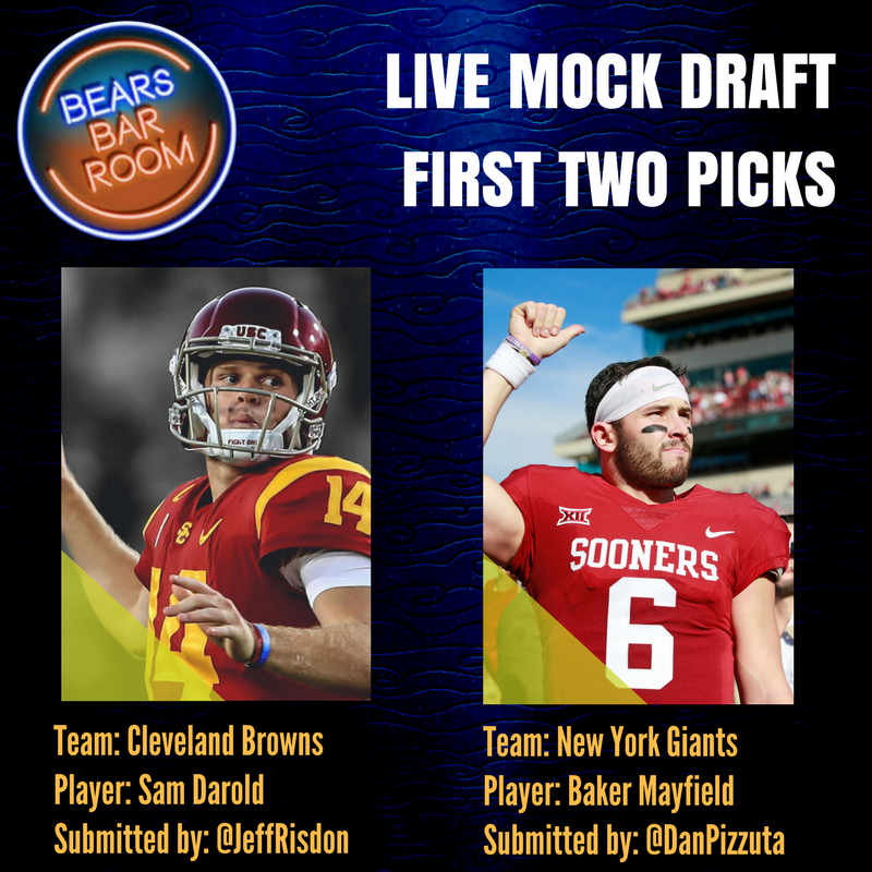 The first two picks are in... Join us!!! mixlr.com/bears-barroom-…