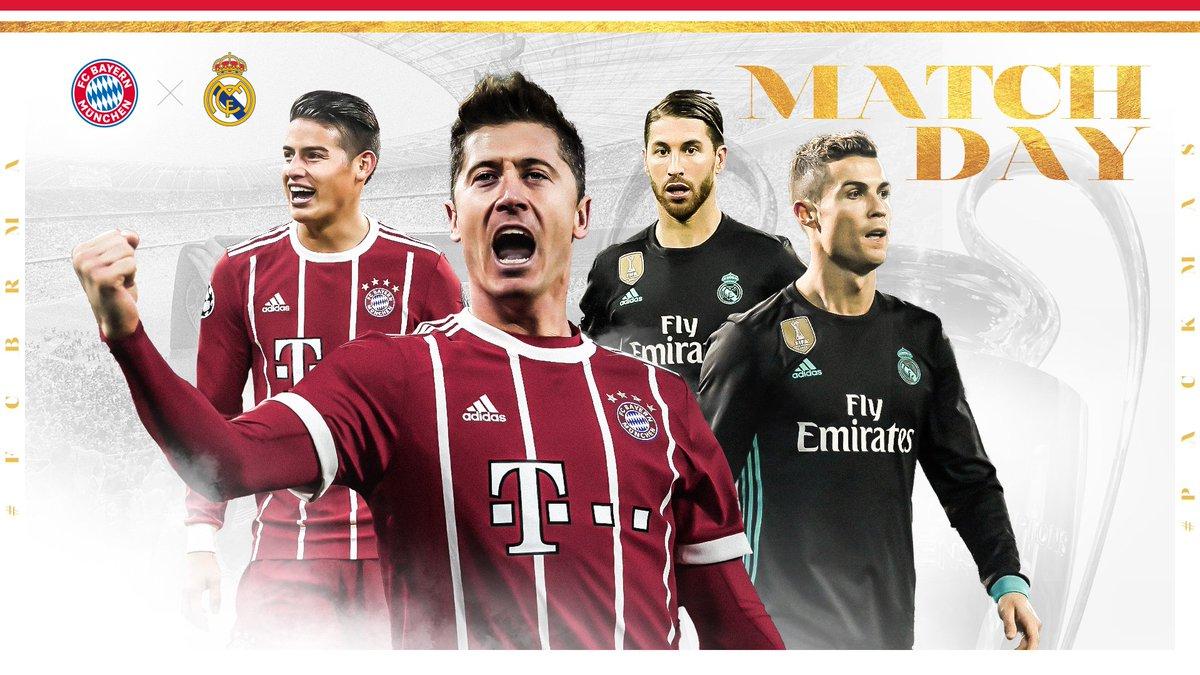 H A L B F I N A L E! 💥  🆚 #FCBRMA 🕘 20:45 Uhr 🏟 #AllianzArena 🔴 #PACKMAS ⚽ @ChampionsLeague