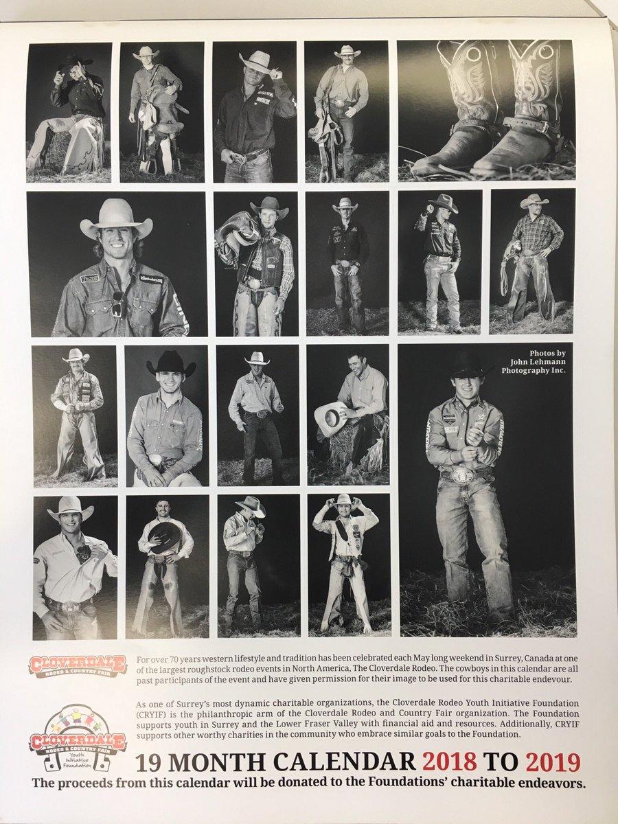 Cowboy Calendar 2019 Cloverdale Rodeo on Twitter: