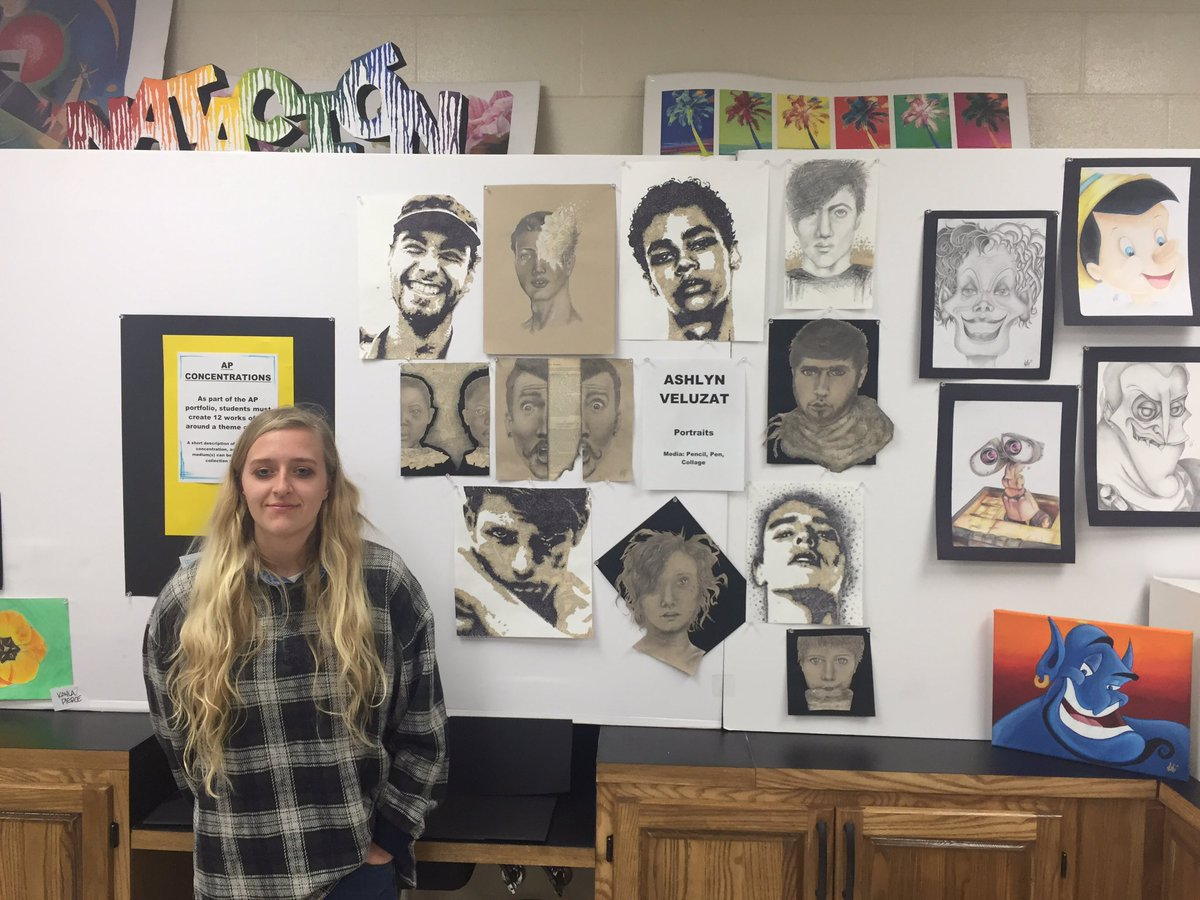 BCHS art exhibit awesome beyond words. We are lucky to have Ms. Simmons, and lucky to have these kids! #talent <br>http://pic.twitter.com/Z7sXZcbJxg
