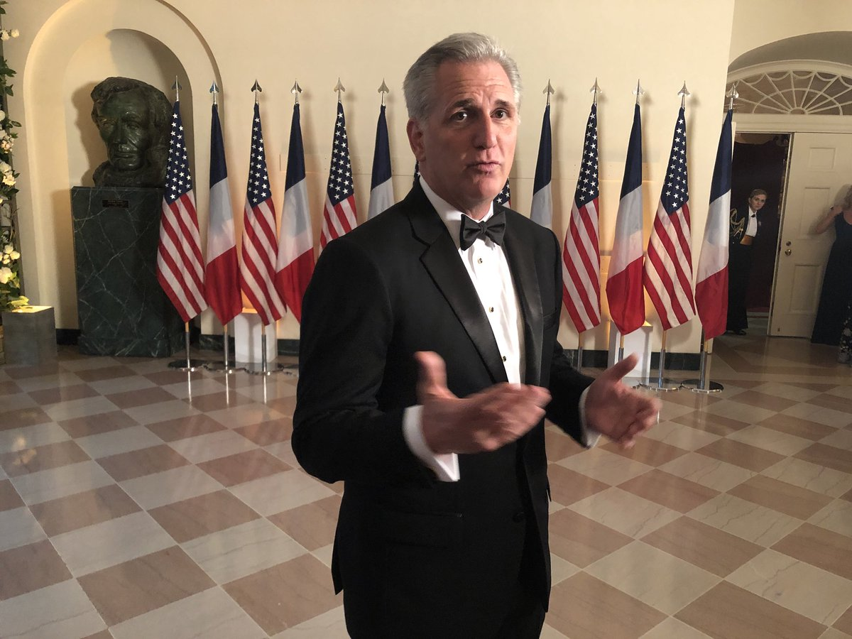 First arrival for the State Dinner: Kevin McCarthy.