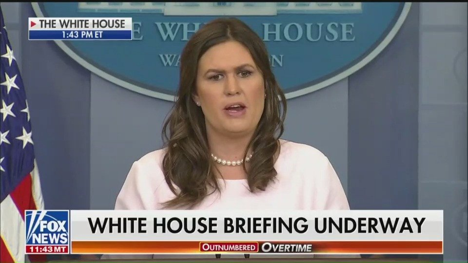 Trump tweeted a strange, racist term and Sarah Sanders has no explanation https://t.co/h3shK6SDCN