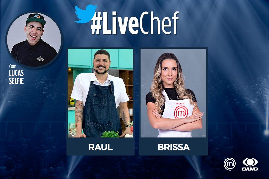 A partir das 22h15 tem #LiveChef por aqui! O @lucaselfie vai se juntar ao @MChef_Raul e à @BrissaMChef para comentar o que tem rolado na nossa cozinha. #MasterChefBR
